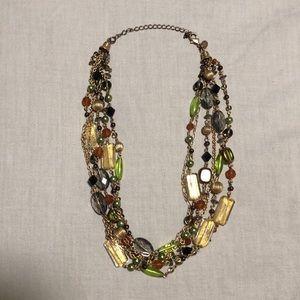 Lia Sophia multilayered beaded necklace
